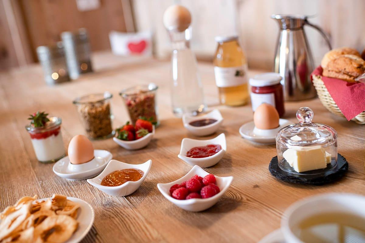 Unser Frühstück am Christlrumerhof nahe Kronplatz
