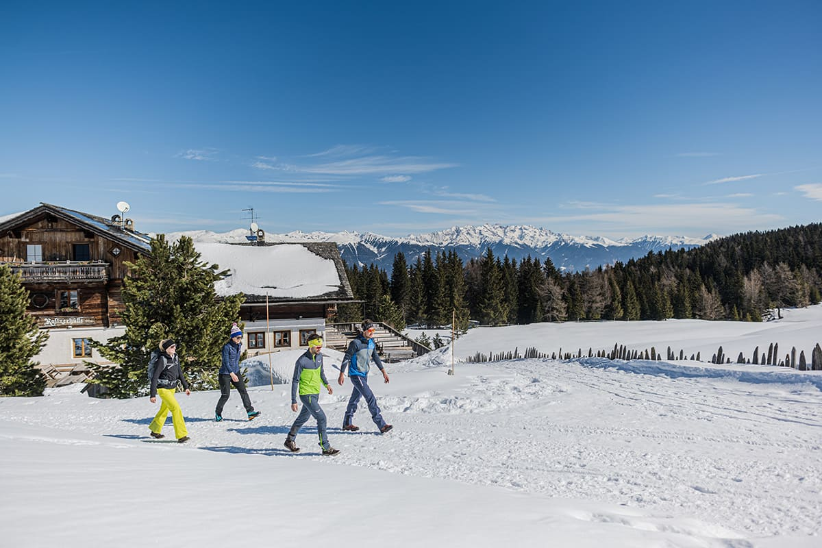 Sledging in the Pustertal valley, Southtyrol