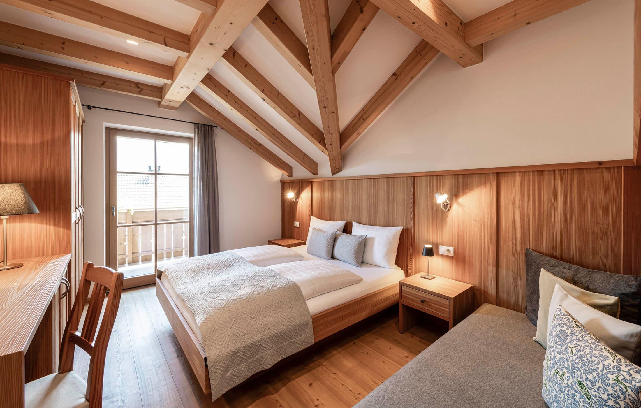 Christlrumerhof - Header Zimmer Bett